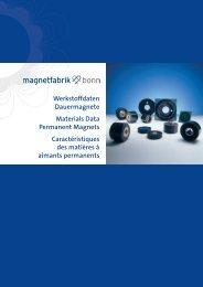 Werkstoffdaten Dauermagnete Materials Data Permanent Magnets ...