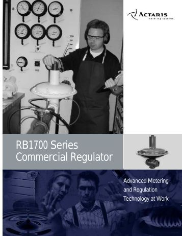 Model RB1700 Commercial Regulator - Istec Corp.