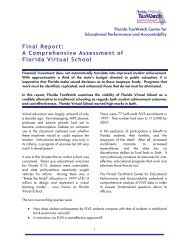 Final Report: A Comprehensive Assessment of Florida ... - iNACOL