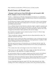 Koch loses oil fraud case - Channeling Reality