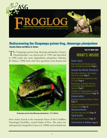 download the FrogLog 91 - Amphibian Specialist Group