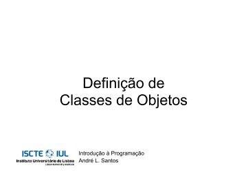 Definição de Classes de Objetos