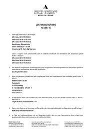 LEISTUNGSERKLÄRUNG Nr. B00_15 - Scherf
