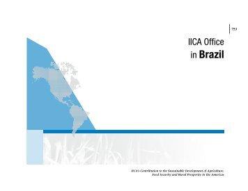 in Brazil - Instituto Interamericano de Cooperación para la Agricultura