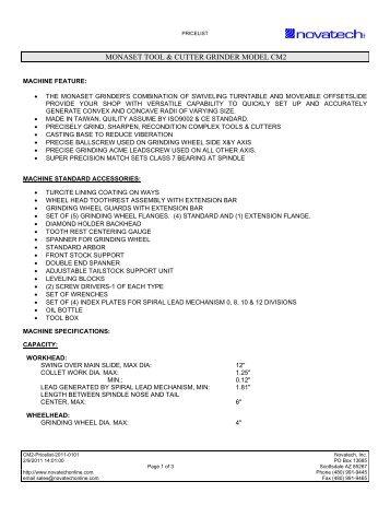 Monaset Price List - Novatech Inc.
