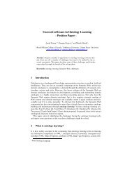 Unresolved Issues in Ontology Learning - Amal Zouaq's Web Site