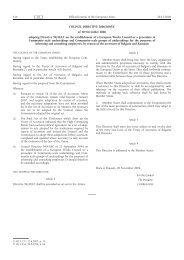 EU Directive 2006/109/EC