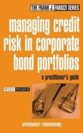Managing Credit Risk in Corporate Bond Portfolios : A Practitioner's ...