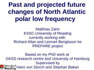 Past and projected future changes of North Atlantic polar low ...