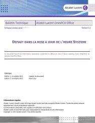 Bulletin Technique Alcatel-Lucent OmniPCX Office
