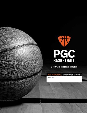 Coaches Welcome Booklet - PGC Basketball