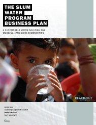 THE SLUM WATER BUSINESS PLAN PROGRAM - Acara