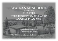 Waikanae School Charter 2013