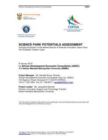 pre-feasibility assessment report - Innovationeasterncape.co.za