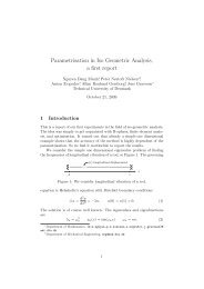 Parametrisation in Iso Geometric Analysis, a first report - Technical ...