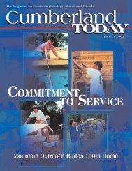 Cumberland Today-Summer 02 - University of the Cumberlands