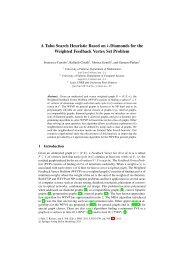 A Tabu Search Heuristic Based on k-Diamonds for ... - ePrints Soton