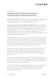 IP&TV World Forum Press release - Ruwido
