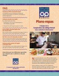Plans-repas - Collège Boréal