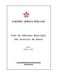 PARTIDO APRISTA PERUANO Plan de Gobierno ... - INFOgob