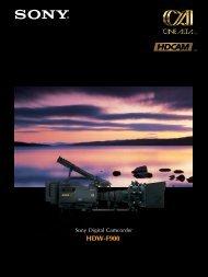HDW-F900 - BroadcastStore.com