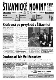 Štiavnické noviny 38 - Banská Štiavnica