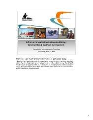 Chamber presentation to Infrastructure Committee, Ottawa