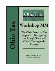the ohio board of tax appeals
