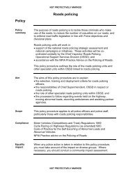 Roads policing (pdf 54kb) - West Yorkshire Police
