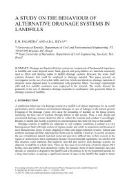 a study on the behaviour of alternative drainage systems in landfills