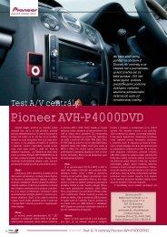 Pioneer AVH-P4000DVD - AutoTuning.sk
