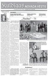 """""""Ābelītei"""" – 75 - Kuldīga"""