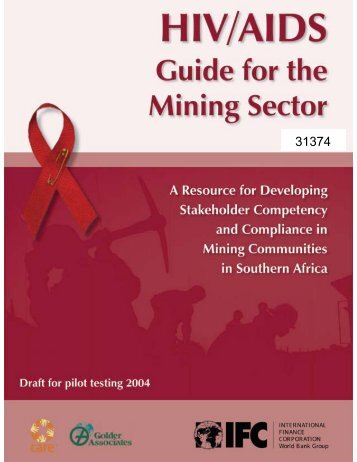 HIV/AIDS Guide for the Mining Sector - CommDev