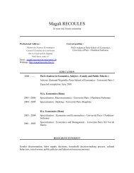 CV élégant - Paris School of Economics