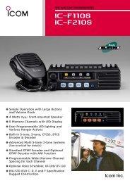 IC-F110S/F210S - Icom Australia