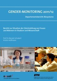 Gender-MonitorinG 2011/12 - Equal! - ETH Zürich