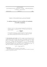 ANNALES A uniform estimate for the modulus of continuity ... - Lublin