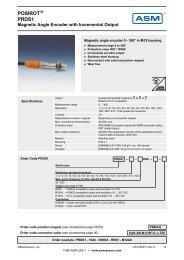 Download Datasheet POSIROT® PRDS1