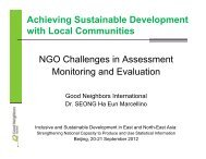 NGO Challenges in Assessment: Monitoring and Evaluation