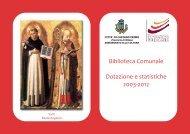 statistiche biblioteca comunale 2003 2012 - Comune di Castano Primo