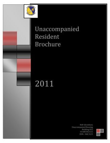 Unaccompanied Resident Brochure - Air Force Housing