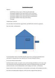 Das Gartenhaus von Jeff Material: - 3x OSB-Platten 19 mm stark ca ...