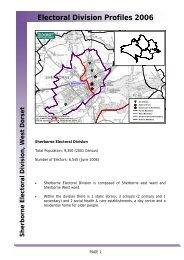 Electoral Division Profiles 2006 - Dorsetforyou.com