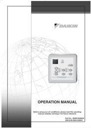 OPERATION MANUAL - Daikin