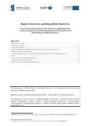 Raport otwarcia nt. polskiej polityki klastrowej