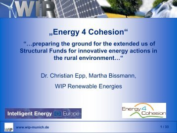 Energy 4 Cohesion - European Renewable Energy Council