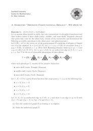 "3. Exercises ""Discrete Computational Biology"", WS 2012/13"