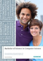 Bachelor of Science in Computer Science - Siemens