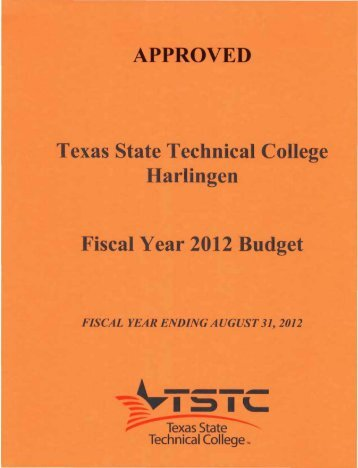 Budget - Texas State Technical College Harlingen