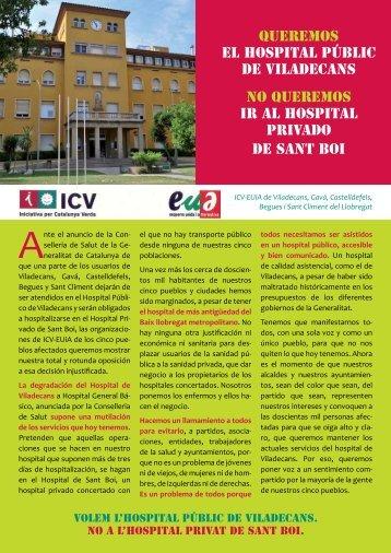 Queremos el Hospital Públic de Viladecans No queremos ir al ... - ICV